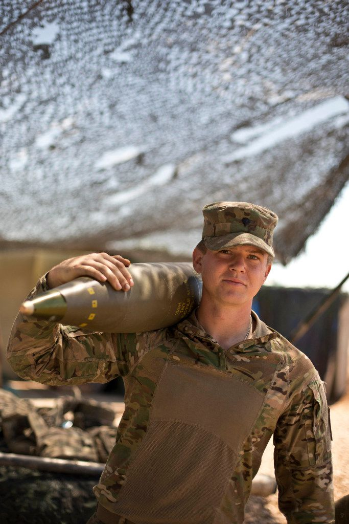 U.S. Army Spc. Dan Decker, 23, of Somerset, Ky., is from the 82nd Airborne Division's C Battery, 2nd Battalion, 319th Airborne Field Artillery Regiment. He is part of the team responsible for firing artillery in support of Iraqi forces battling Islamic State militants in Mosul.