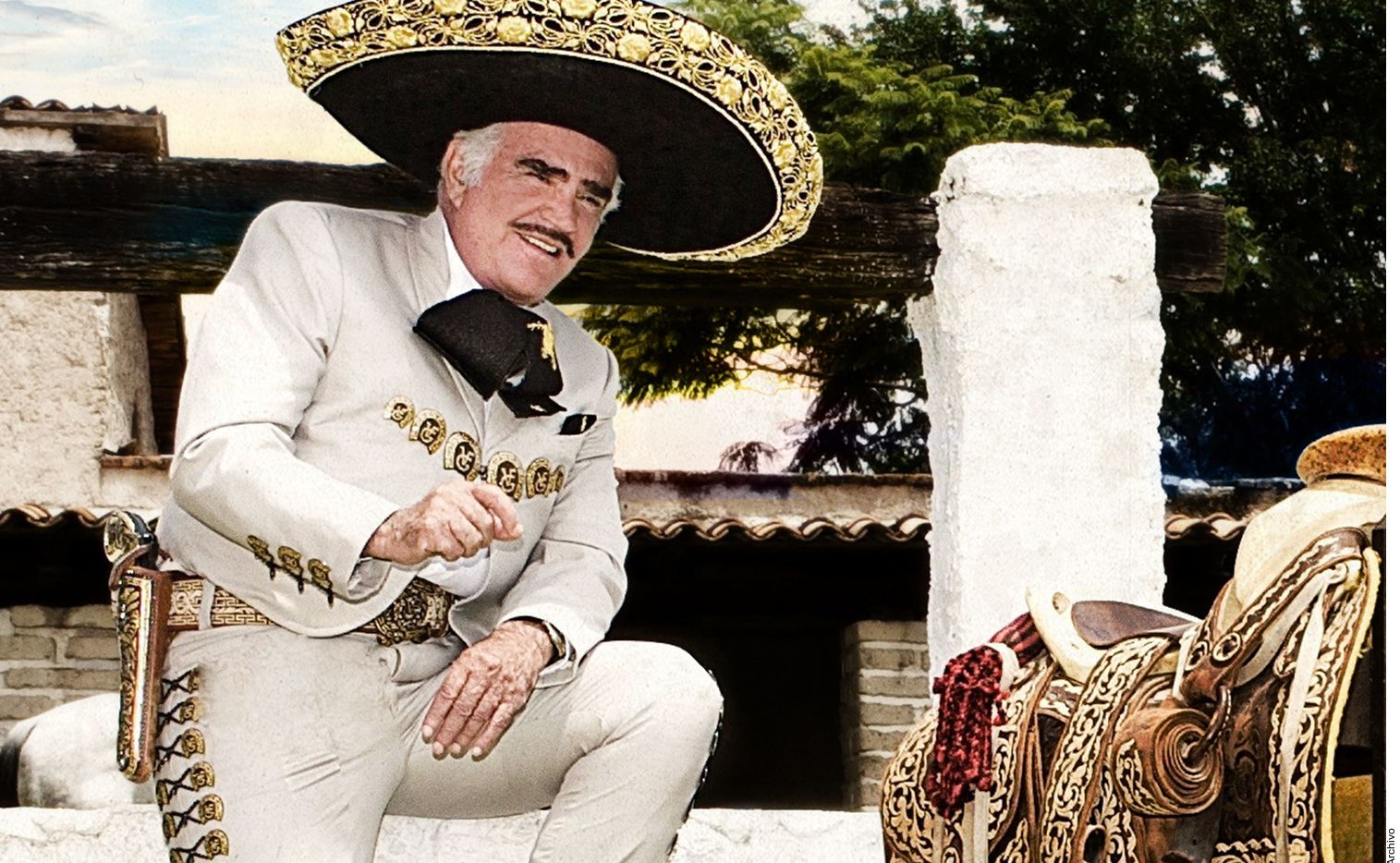 En esta foto de archivo se ve a Vicente Fernández. Tras rumores, se confirmó el inicio de producción de la serie biográfica sobre Vicente Fernández por parte de Netflix.