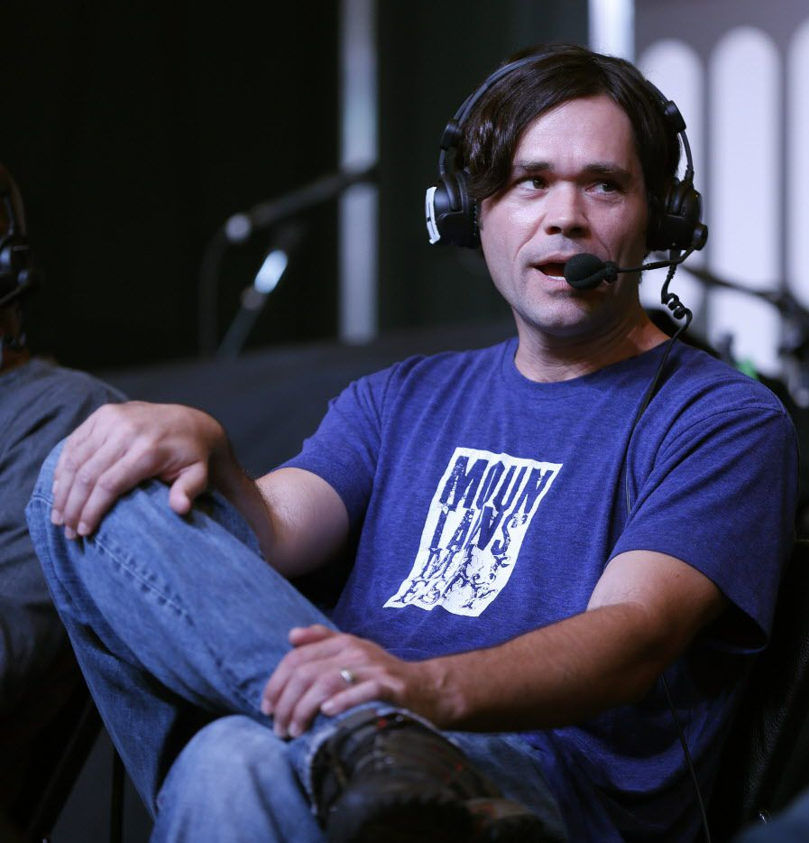Corby Davidson speaks on air at The Ticket's Ticketstock 2016 event.