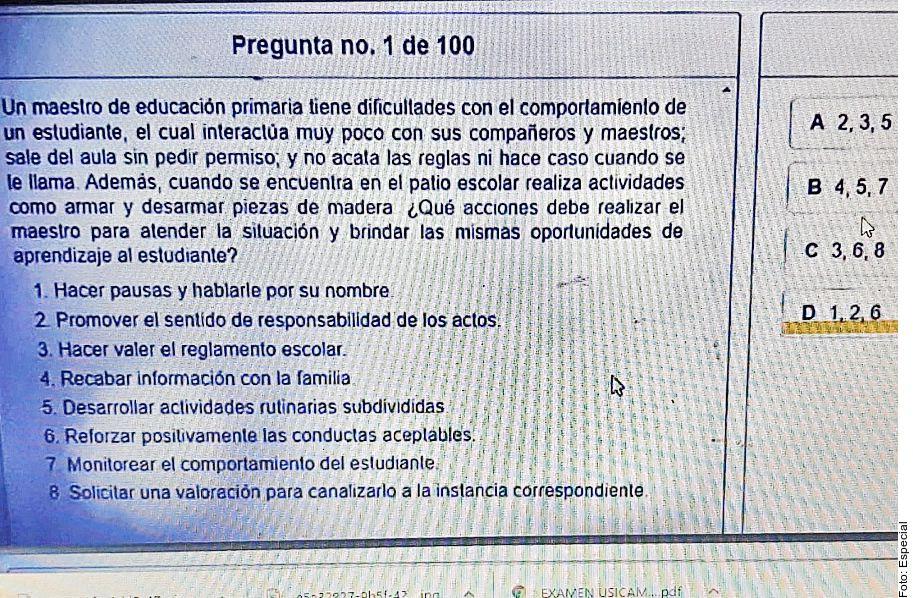 Por redes sociales, maestros de Nuevo León, México, intercambiaron un día antes respuestas de un examen de evaluación profesional.