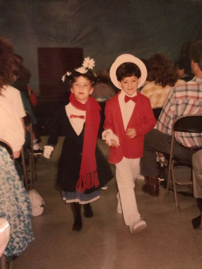 """Brandon Maxwell played the lead role of Bert in the play, """"Mary Poppins"""" in kindergarten."""