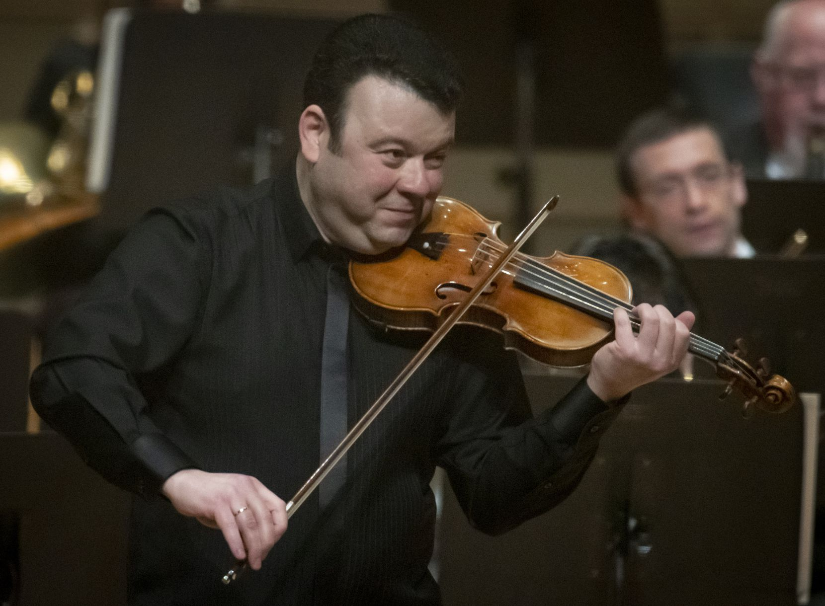 Violinist Vadim Gluzman performs Prokofiev's Violin Concerto No. 2 with the Dallas Symphony Orchestra at the Meyerson Symphony Center on May 28 in Dallas.