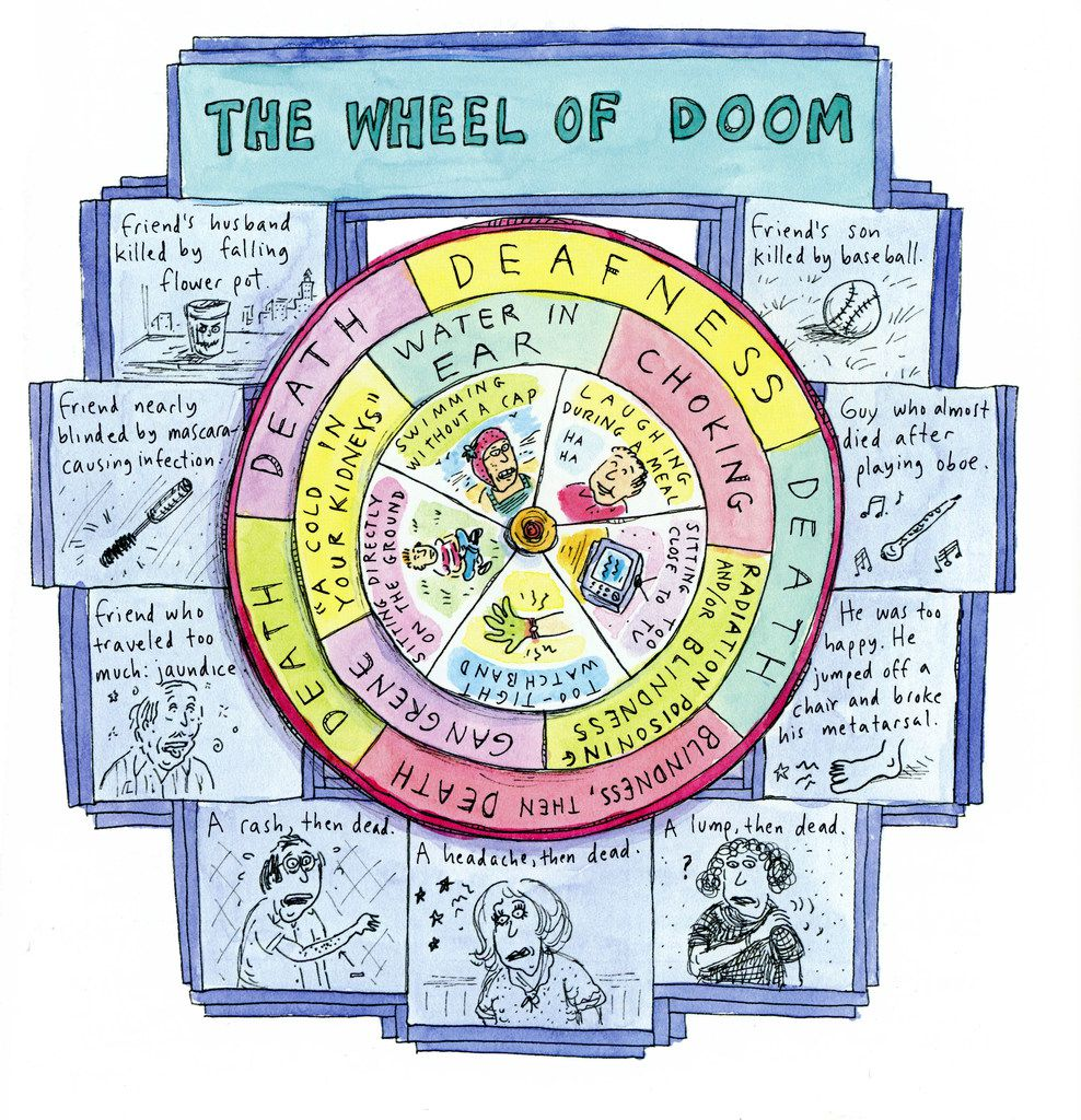 The Wheel of Doom is included in Roz Chast's Can't We Talk About Something More Pleasant?