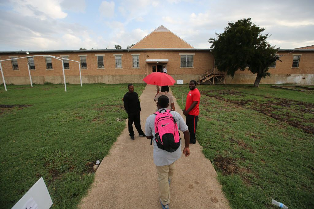Students going to class at Prime Prep's Dallas campus. (Nathan Hunsinger/The Dallas Morning News)