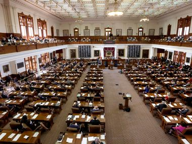 The 87th Texas Legislature is called into session at the Texas Capitol building in Austin, Texas, on Tuesday, Jan. 12, 2021. (Lynda M. González/The Dallas Morning News)