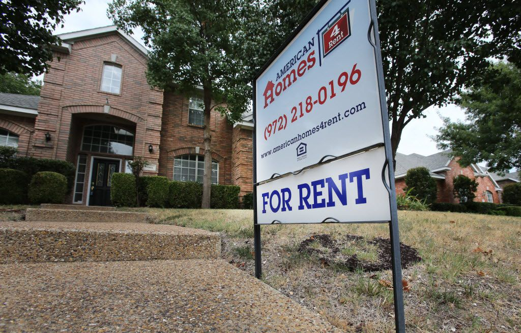 A house for rent in Plano, shown in a file photo. Rents for houses and apartments across North Texas have soared over the last year.