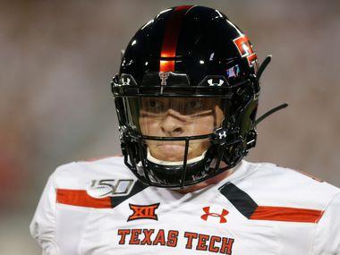 Texas Tech quarterback Alan Bowman (10) during an NCAA football game against Arizona on Saturday, Sept. 14, 2019 in Tuscon, Ariz.