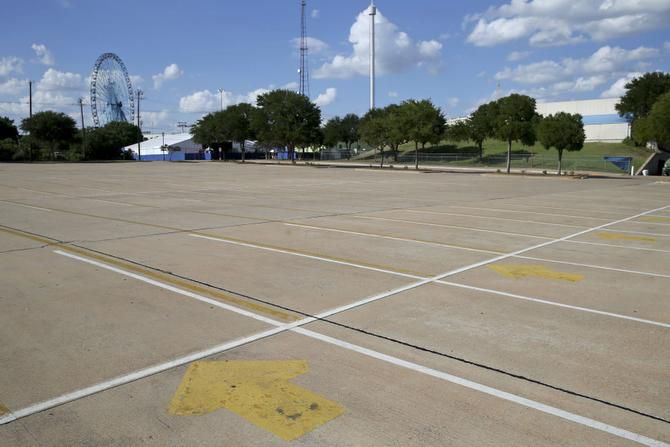 The Fair Park master plan calls for turning parking lots on the south end of Fair Park into green space.