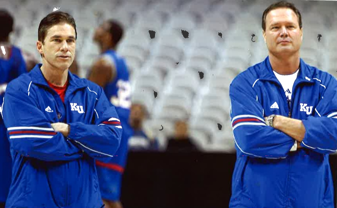 Tim Jankovich (left) and Bill Self coach together during the early 2000s. Tim is currently the head coach at SMU and his son, Michael Jankovich, is a walk-on for Self at Kansas.