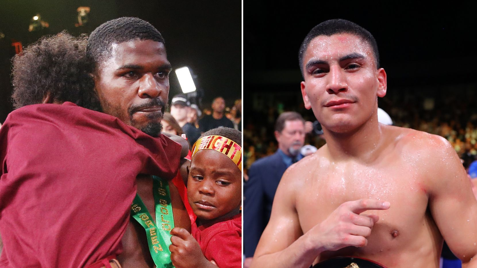 Dallas-area boxers Maurice Hooker (left) and Vergil Ortiz Jr. (right).