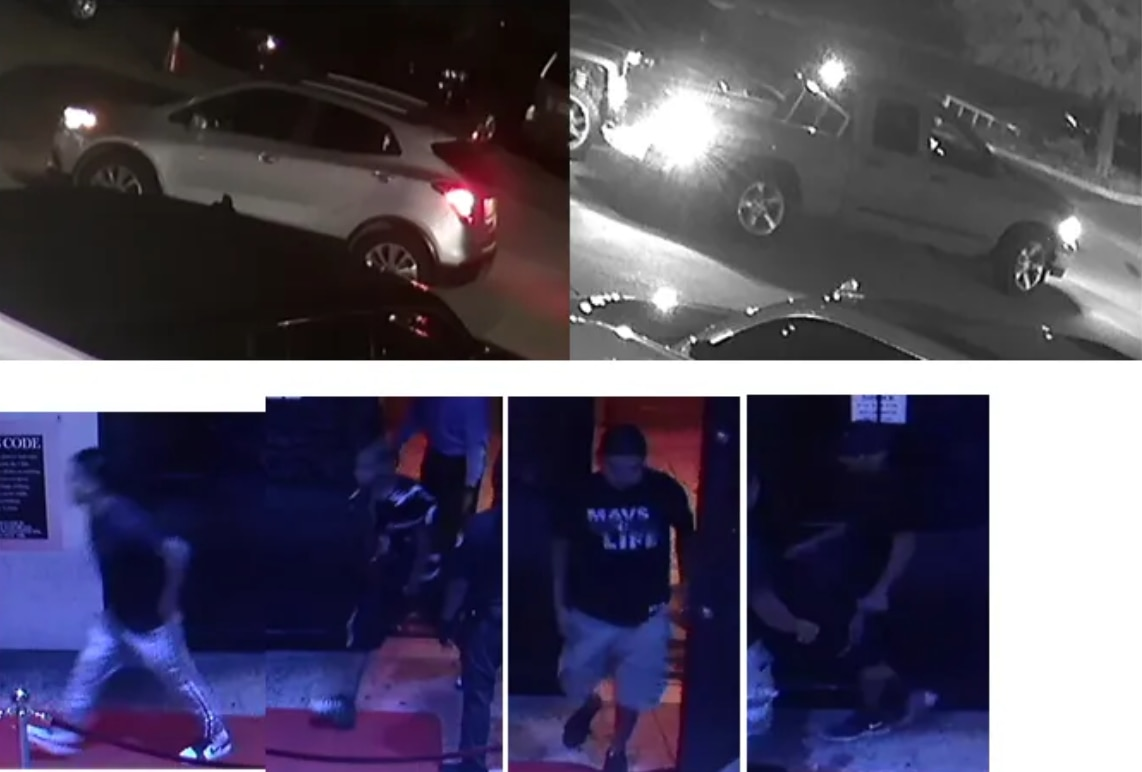 Dallas police are asking for the public's help identifying persons of interest, pictured here, in a fatal shooting that occurred on Sept. 5, 2020 at the Zona Rosa Cabaret.