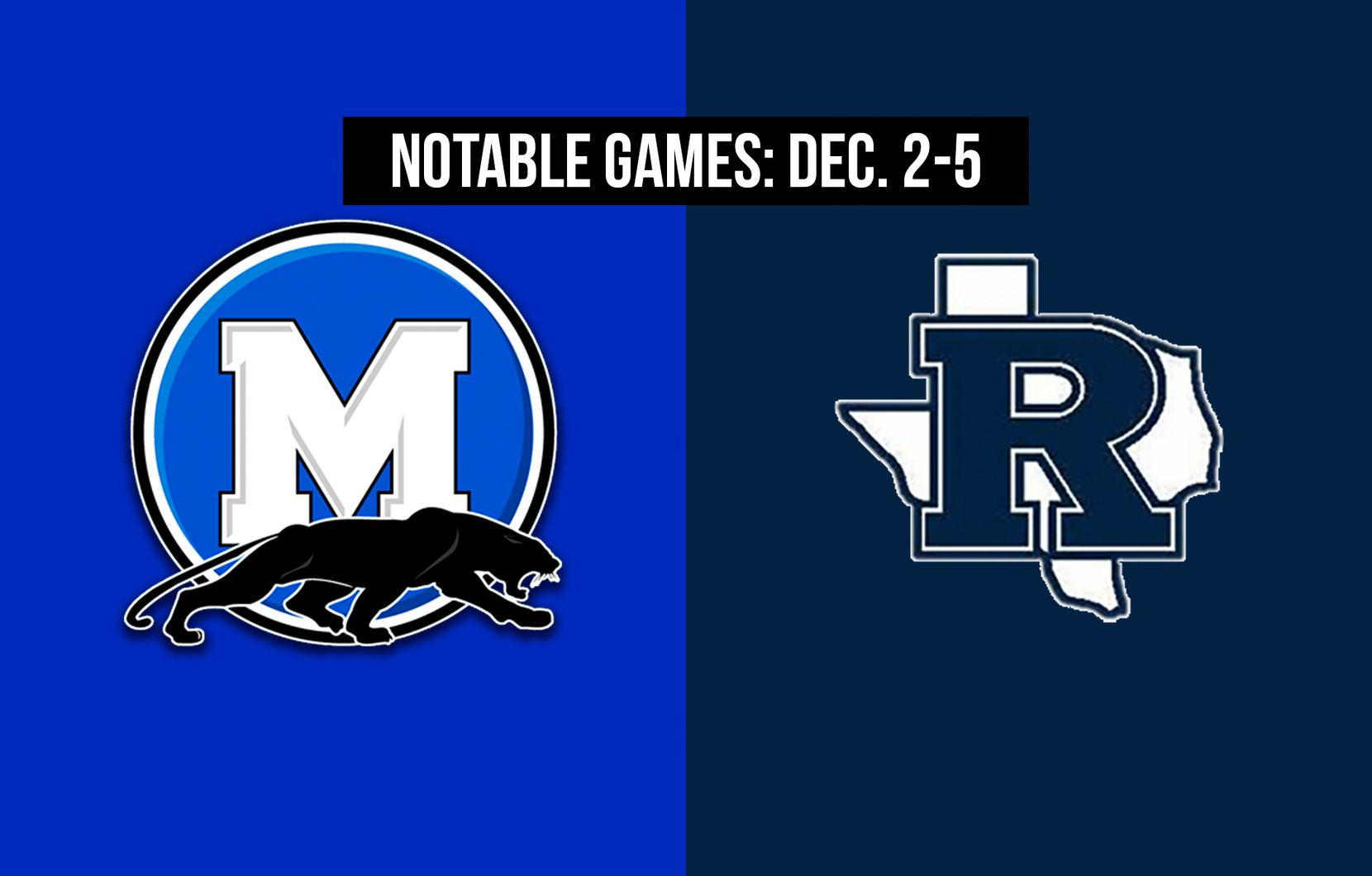 Notable games for the week of Dec. 2-5 of the 2020 season: Midlothian vs. Richland.
