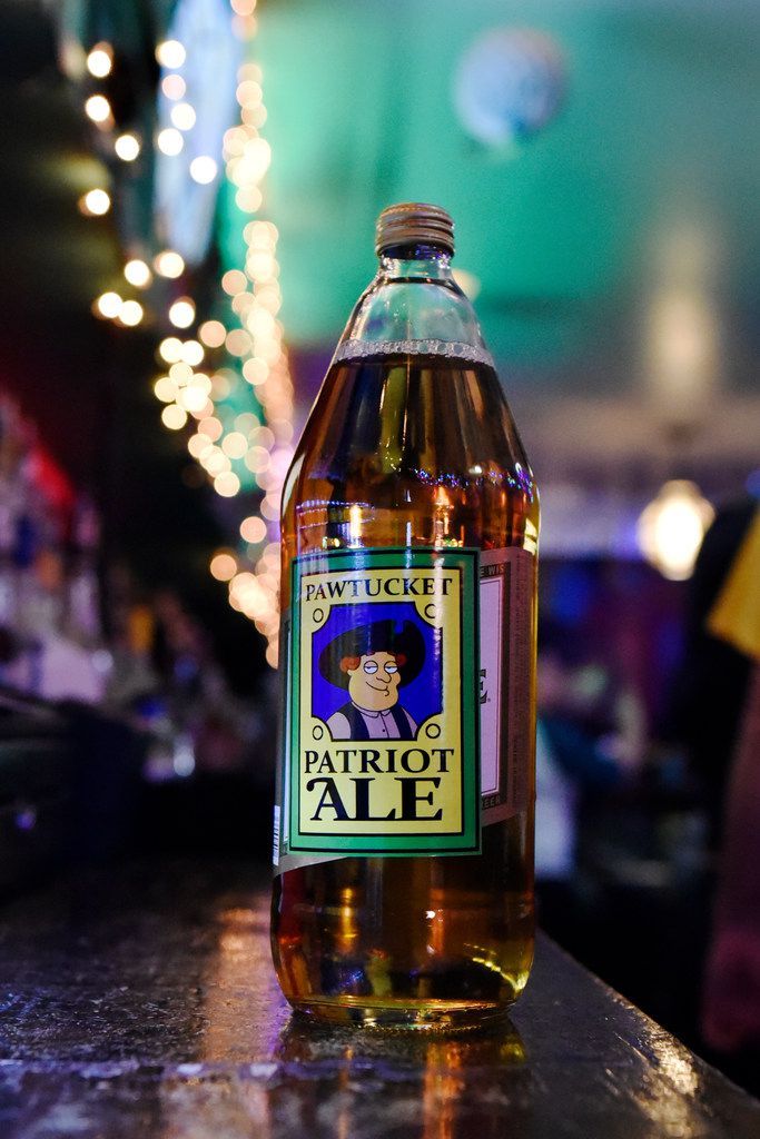 Peter's Pawtucket Patriot Ale 40 oz is one of several specialty beverages served at the Drunken Clam.