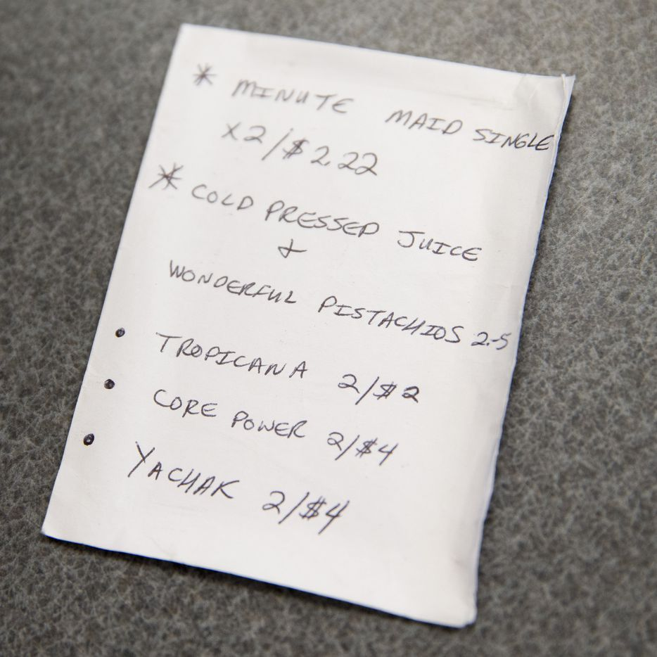 Randy budgeted and tracked the prices of items he usually purchased at a convenience store in downtown Dallas.