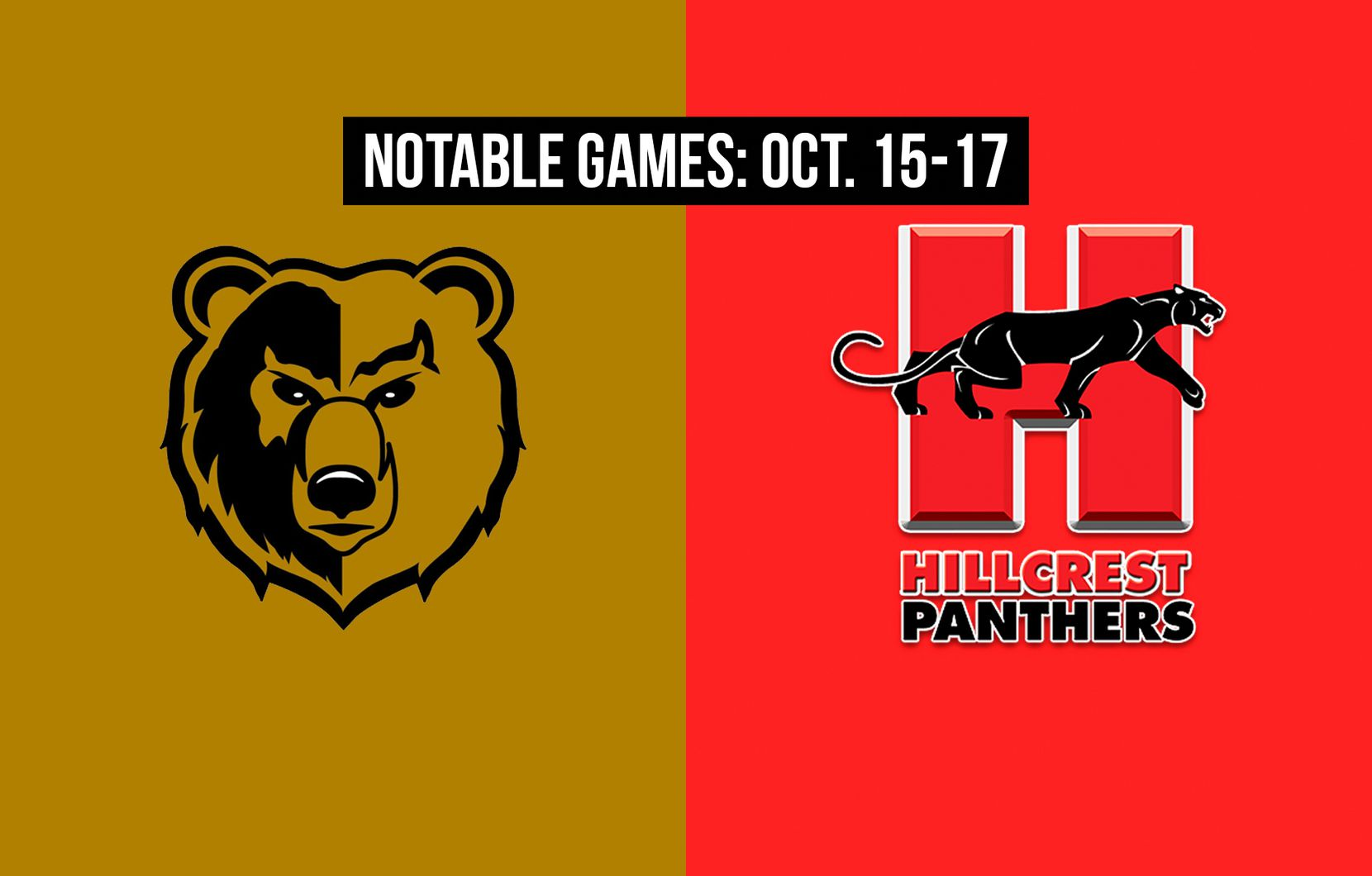 Notable games for the week of Oct. 15-17 of the 2020 season: South Oak Cliff vs. Hillcrest.