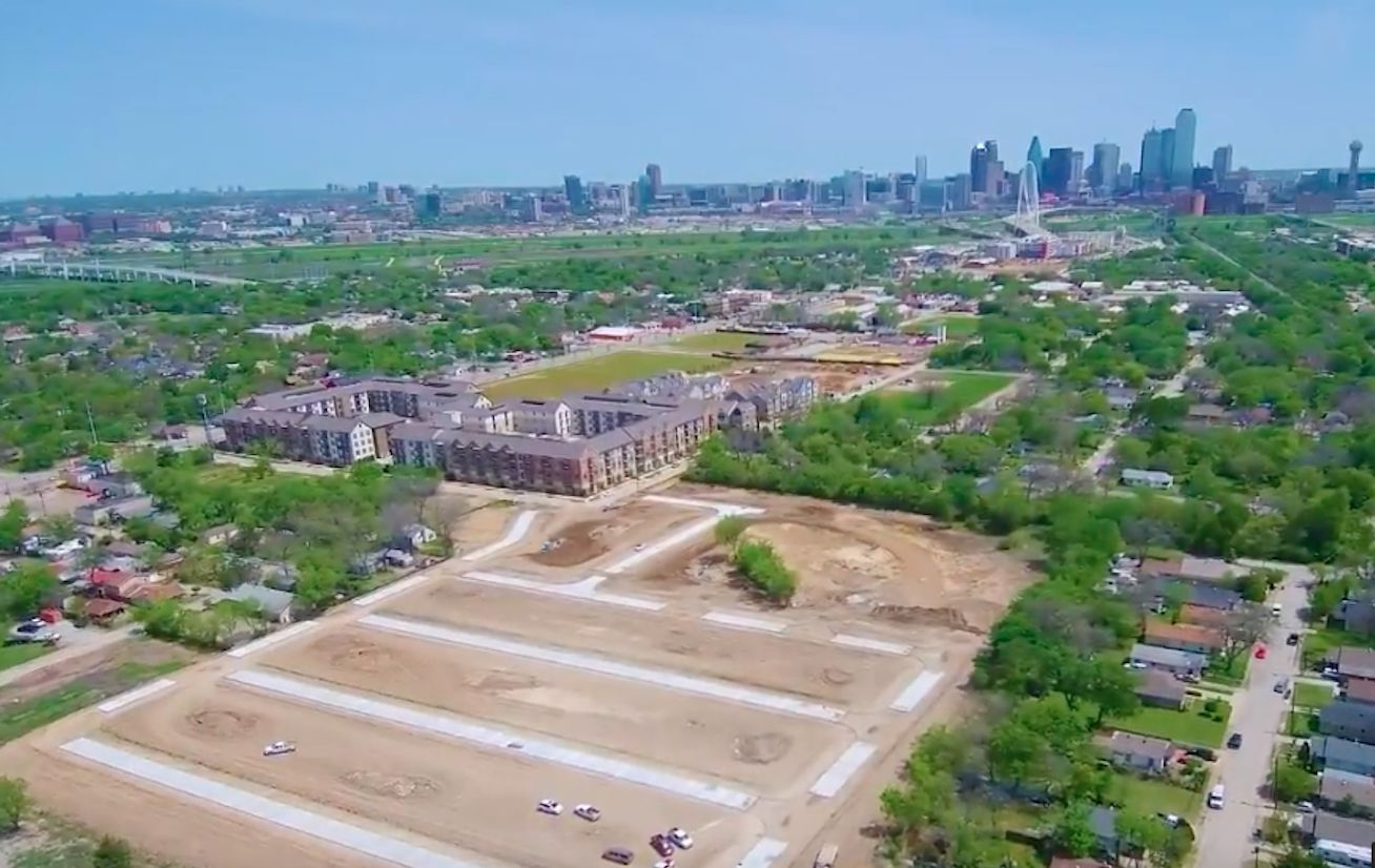 The SoHo Square community will be off Singleton Boulevard west of downtown Dallas.