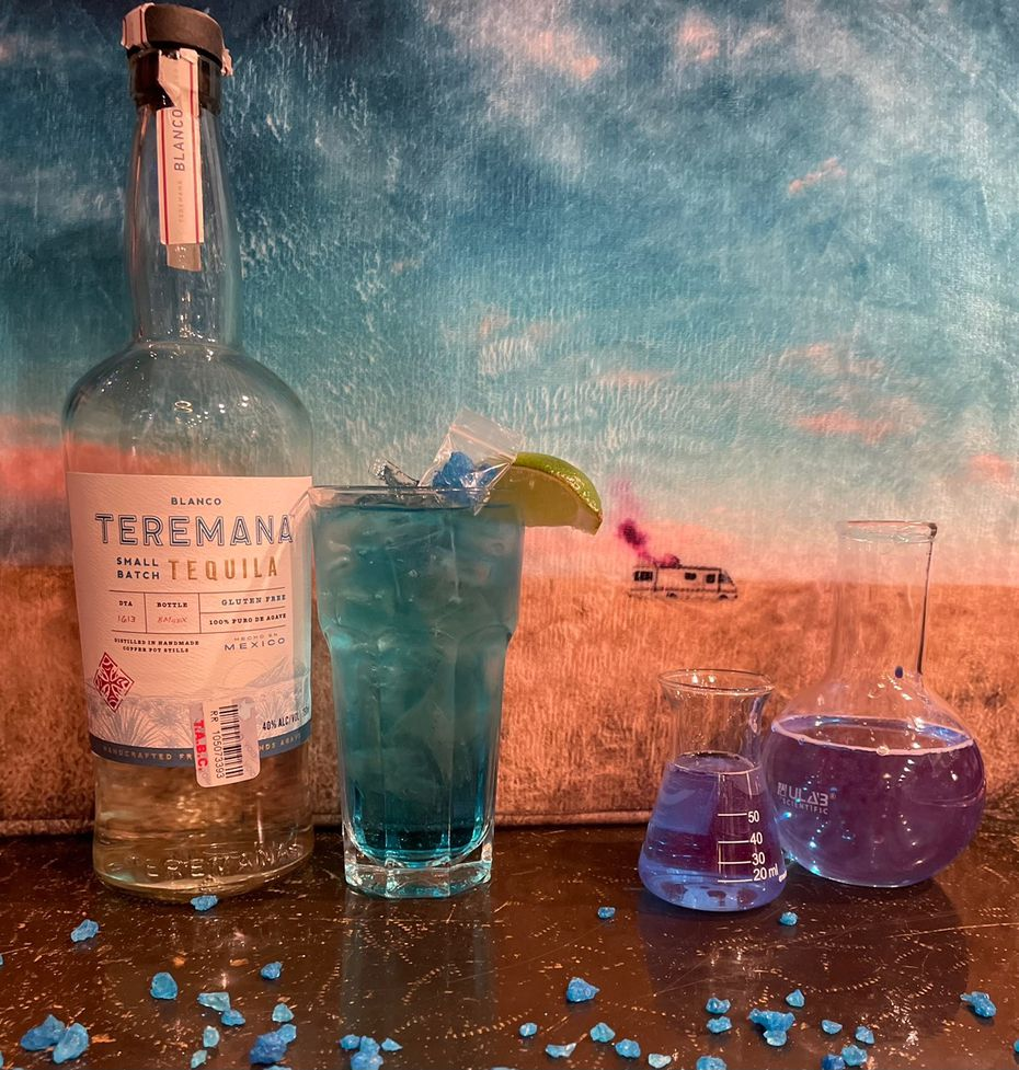 The Blue Sky cocktail is named after the crystal meth that Walter White and Jesse Pinkman made on the TV show 'Breaking Bad.' It's made with tequila and blue curacao.
