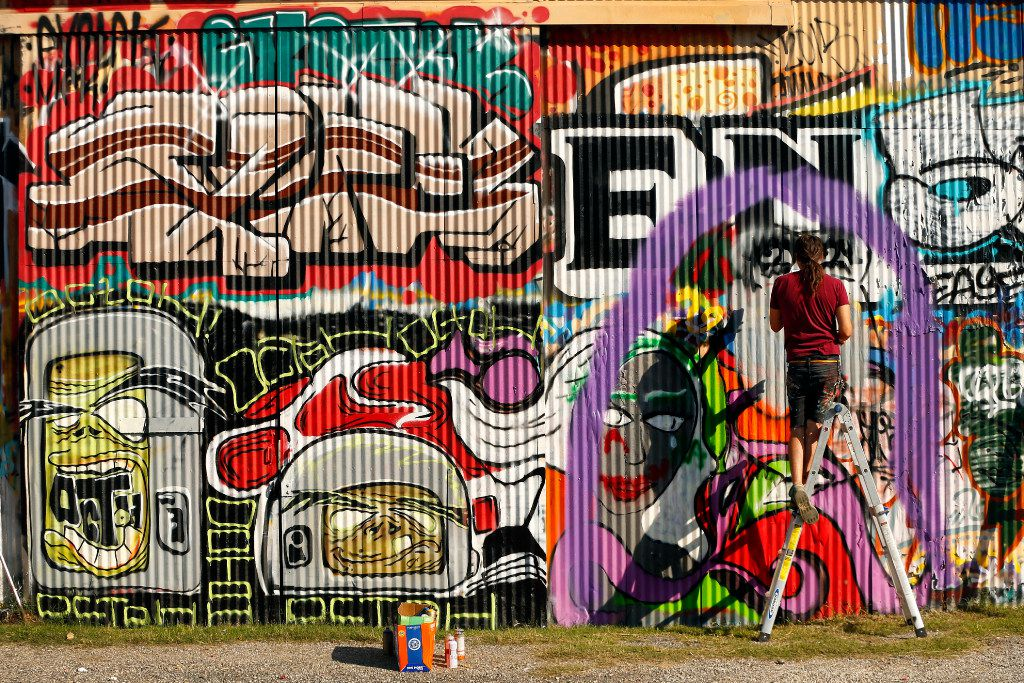West Dallas Chamber of Commerce is hosting an art walk of the area. Besides the graffiti of the Fabrication Yard, studios and galleries will exhibit works.