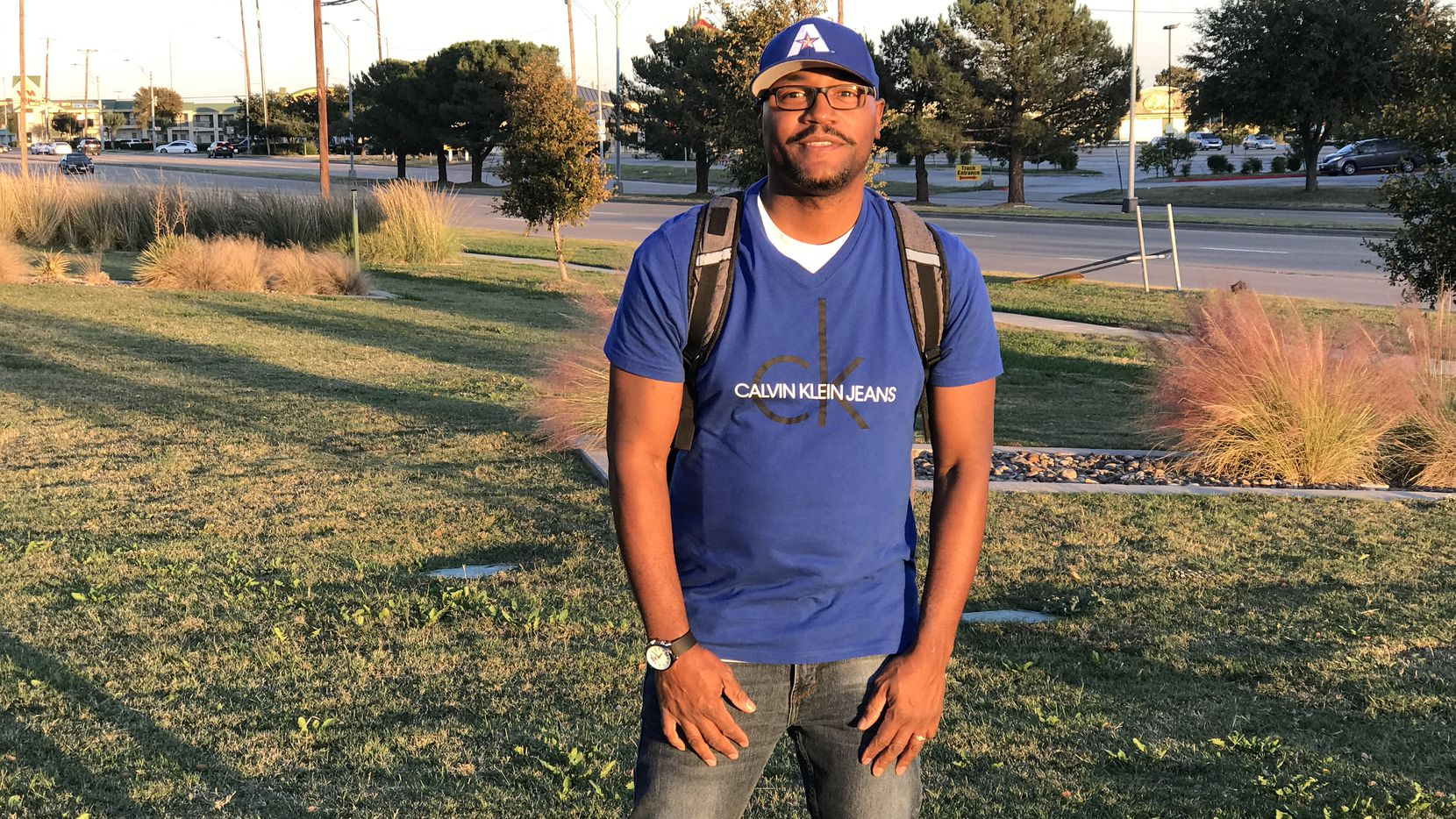 """Antonio Young, a language arts teacher at Ellis Elementary, poses for a photo while shooting his """"Advancing the Dream"""" music video. With some help from his sixth grade students, Young recorded a rap music video paying tribute to Martin Luther King Jr."""