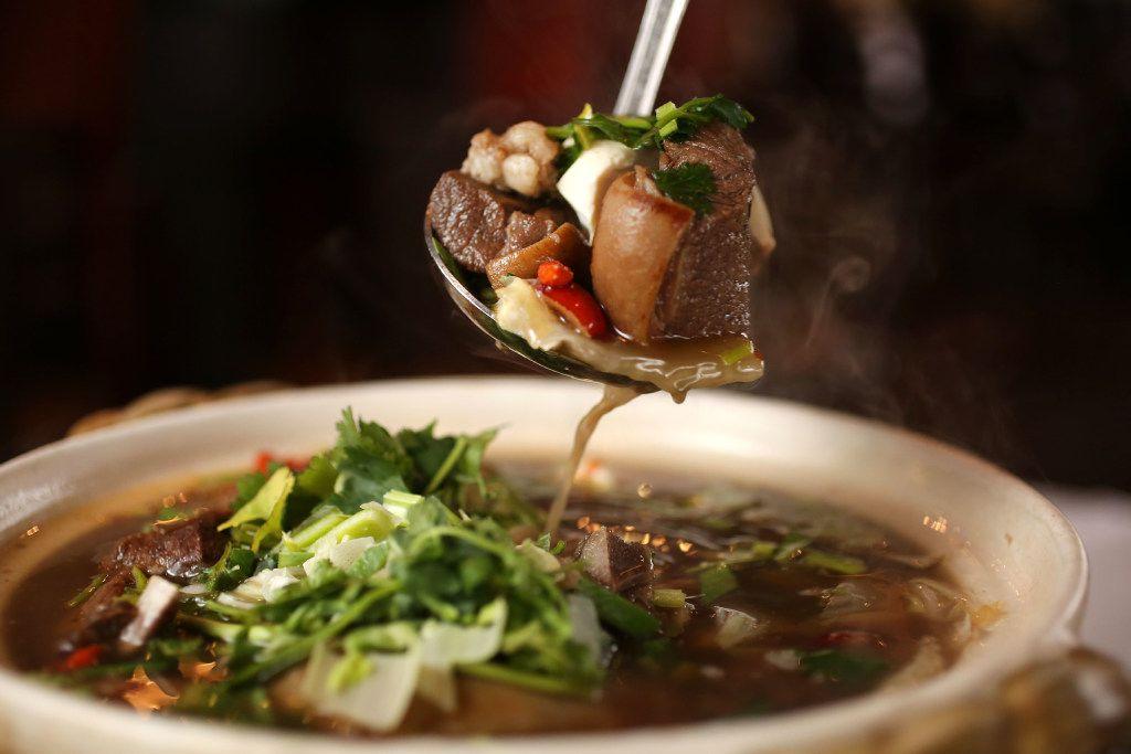 Taiwanese lamb hot pot at Yama (Rose Baca/Staff Photographer)