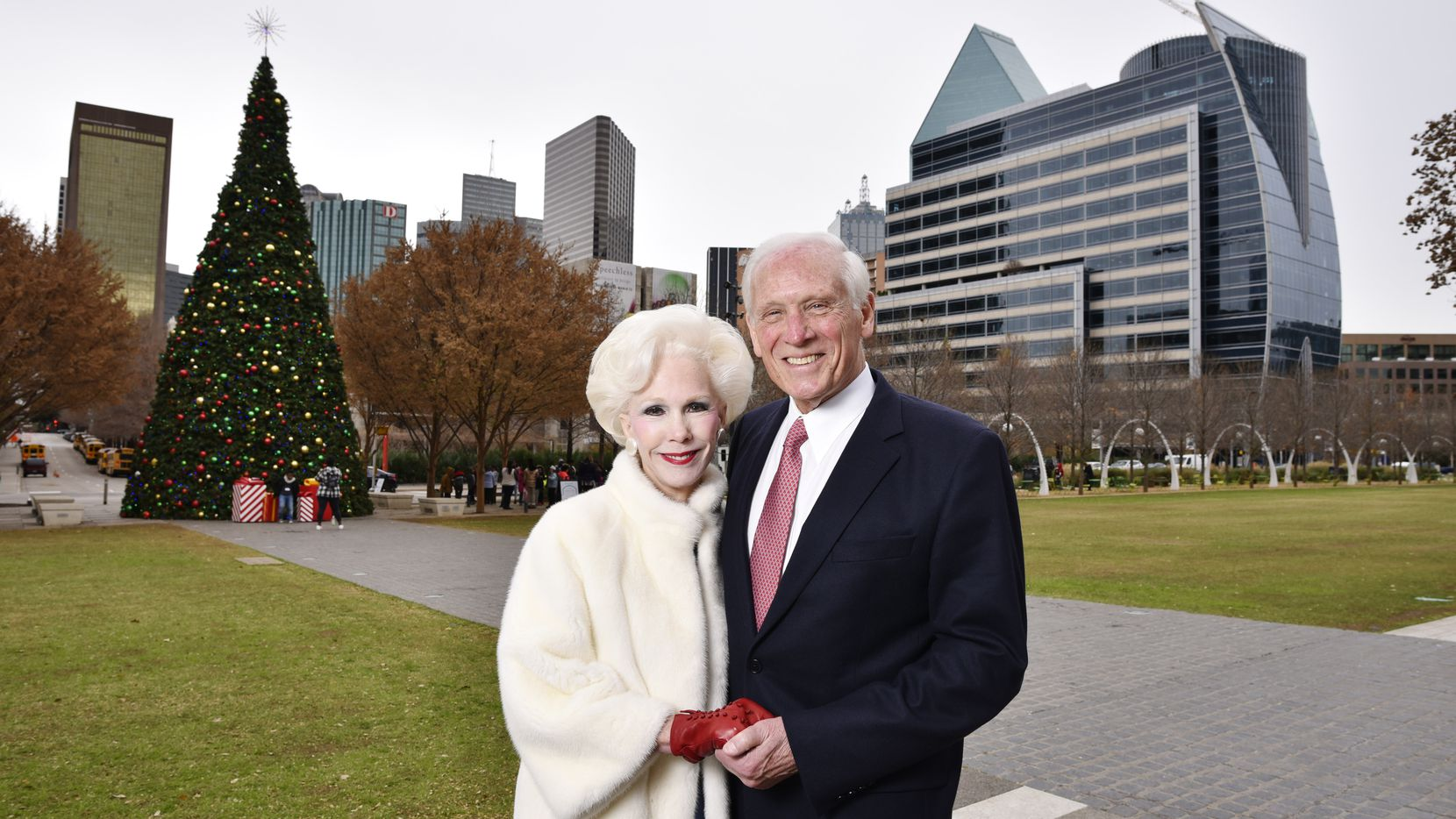 Sheila and Jody Grant, whose vision saw Klyde Warren Park become a reality, are finalists for Texan of the Year, photographed at Klyde Warren Park in Dallas, Dec. 10, 2019.