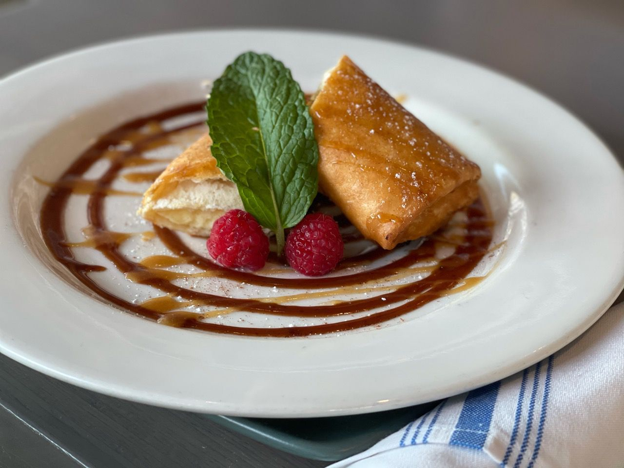 Miriam Cocina Latina offers the cheesecake burrito   creamy cheesecake rolled in flour tortillas and toasted with spicy chocolate and caramel sauce with cinnamon sugar as part of its Valentine's Day offerings this year.