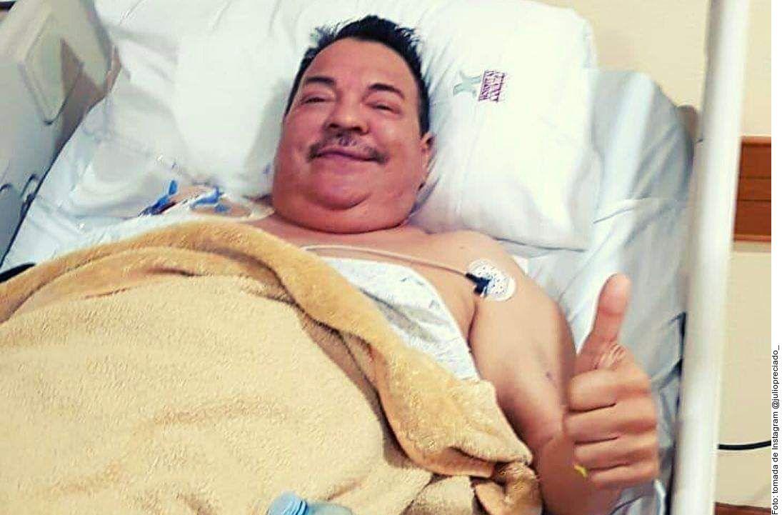 Julio Preciado se sometió a una cirugía de trasplante de riñón, el cual le fue donado por su hija.