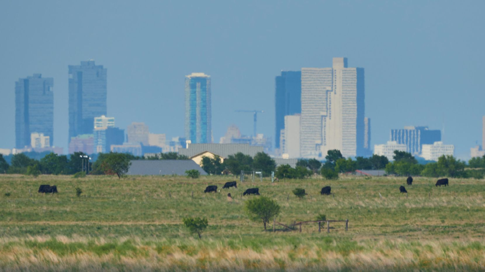 The Veale Ranch is about 11 miles west of downtown Fort Worth.