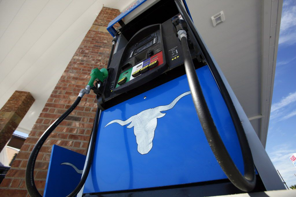 The gas pumps are decorated with a Texas Longhorns at the new Fuel City gas station, on Wednesday, Sept. 23, 2015 in Mesquite. Ben Torres/Special Contributor