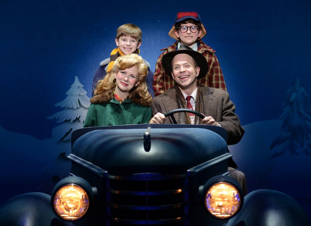 Susannah  Jones  as  Mother,  Christopher  Swan  as  The  Old  Man,  Cal  Alexander  as  Randy  and  Colton  Maurer  as  Ralphie  in A  Christmas  Story,  The  Musical, presented by AT&T Performing Arts Center at Winspear Opera House Dec. 12-16.