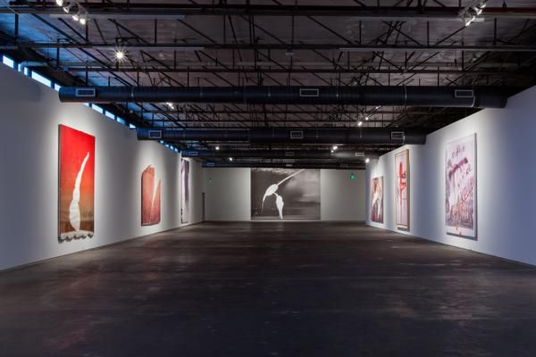 """""""An Artist Has a Past (Puffy Clouds and Strong Cocktails): 15 Paintings Over the Last Decade"""" by Julian Schnabel is on view at Dallas Contemporary."""