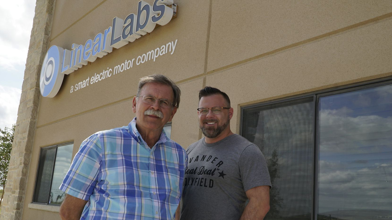 Father-son duo Fred (left) and Brad Hunstable began tinkering with electric motors as a hobby. They've turned that home garage project into Fort Worth-based Linear Labs.
