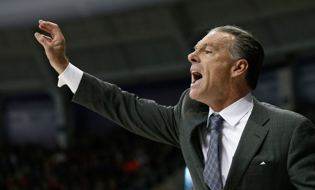 TCU Horned Frogs head coach Jamie Dixon yells from the bench during the second half against the Iowa State Cyclones at Ed & Rae Schollmaier Arena in Fort Worth, Texas, Saturday, Jan. 14, 2017. The TCU Horned Frogs won 84-77. (Jae S. Lee/The Dallas Morning News)