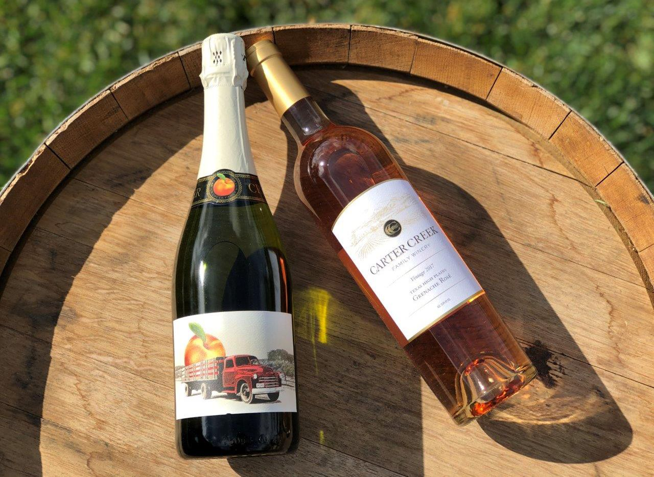 The Carter Creek Winery 2017 Grenache Rose  and Sparkling Peach won awards in the 2020 San Francisco wine competition.