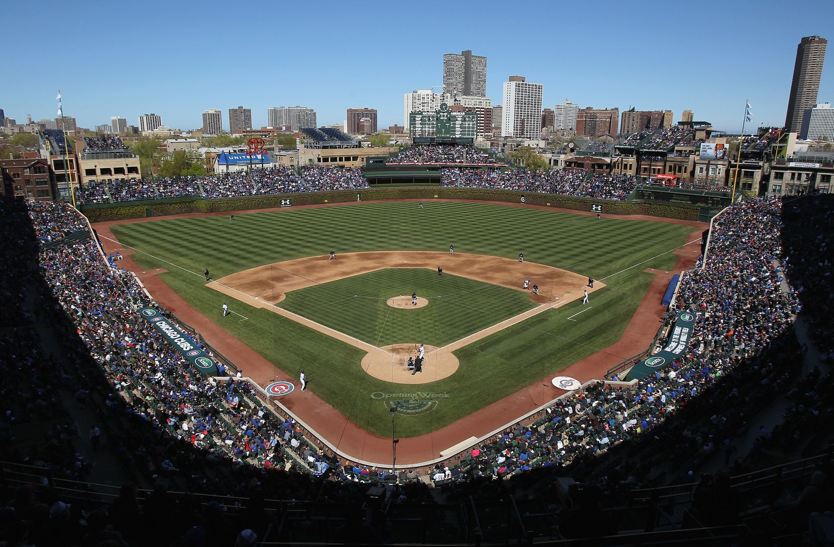 Wrigley Field — one of the greatest places to catch a game since 1914. The Cubs began play there in 1916.