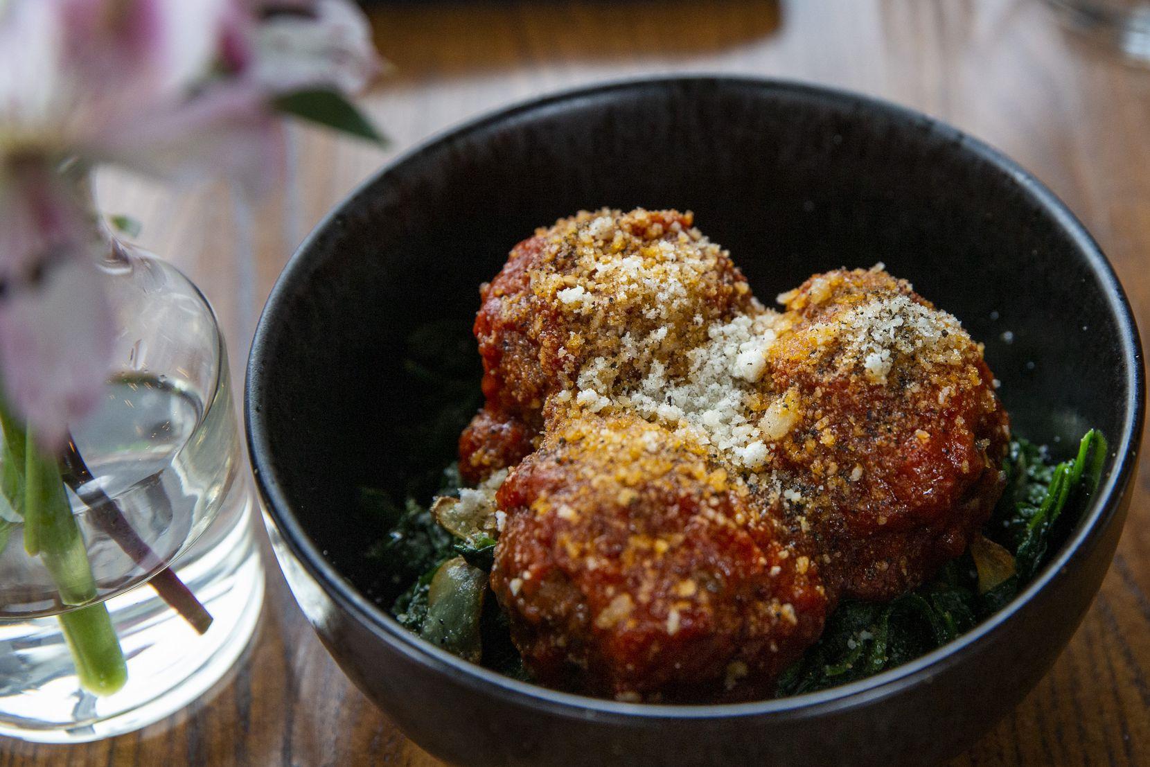 The lamb meatballs at Mille Lire restaurant