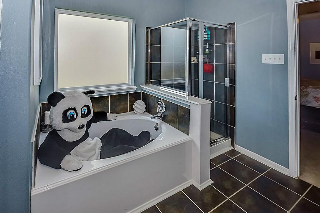 Image of a bathroom on an available property listing in Spring, Texas. Notice anything unusual?