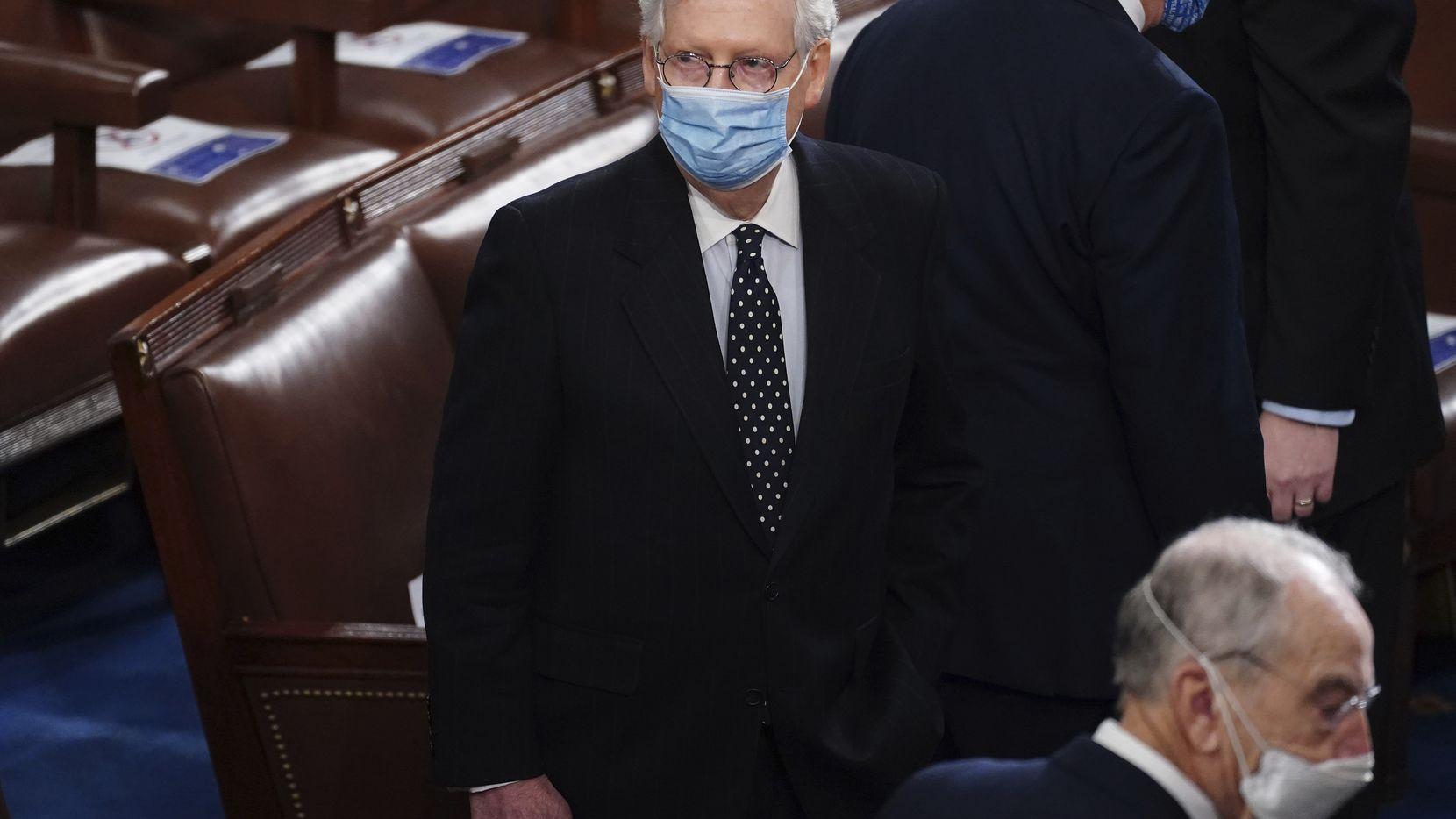 Mitch McConnell, senador de Kentucky, y líder de la mayoría republicana en el Senado.