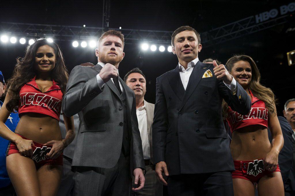 Canelo Álvarez vs. Triple G Golovkin pelearán el 16 de septiembre. Foto AP