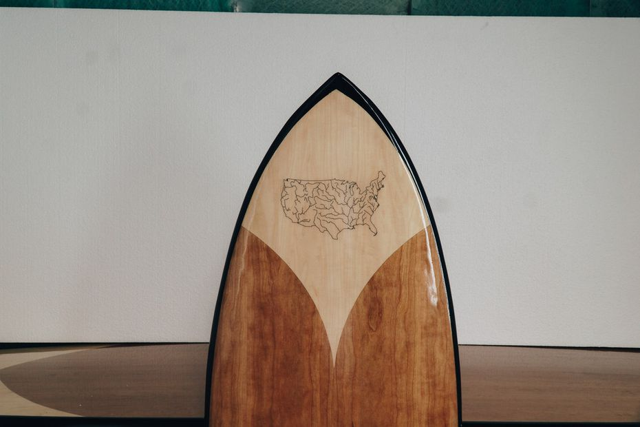 The rivers that make up America's landscape are represented on the wakesurf board made in Texas by Jarvis Boards. Even its price is patriotic: $1,776.