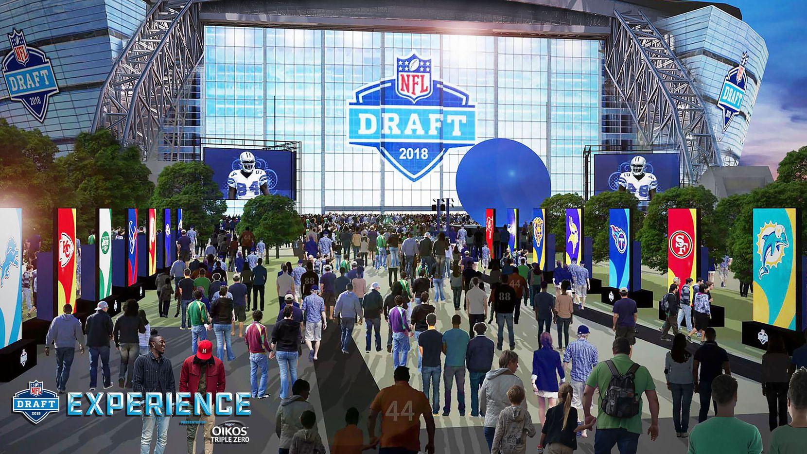 Mucha diversión y cientos de objetos para ver durante los tres días del NFL Draft Experience que este 2018 llega a Dallas. Crédito: NFL
