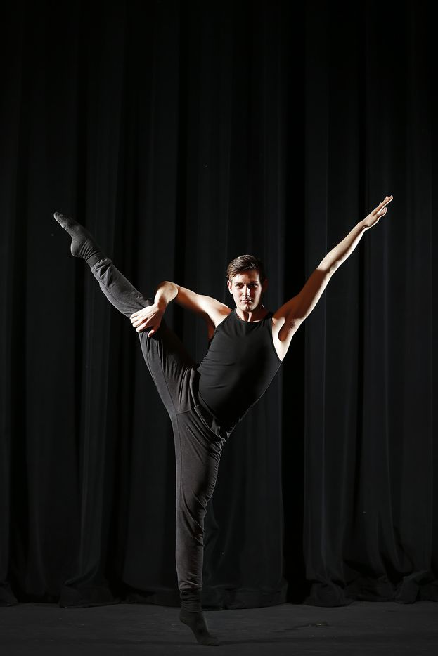 Todd Baker, 18, poses for a photograph at Booker T. Washington High School for the Performing and Visual Arts in Dallas on May 11. He's one of the five Booker T. dance students to be accepted to the Juilliard School in New York City.