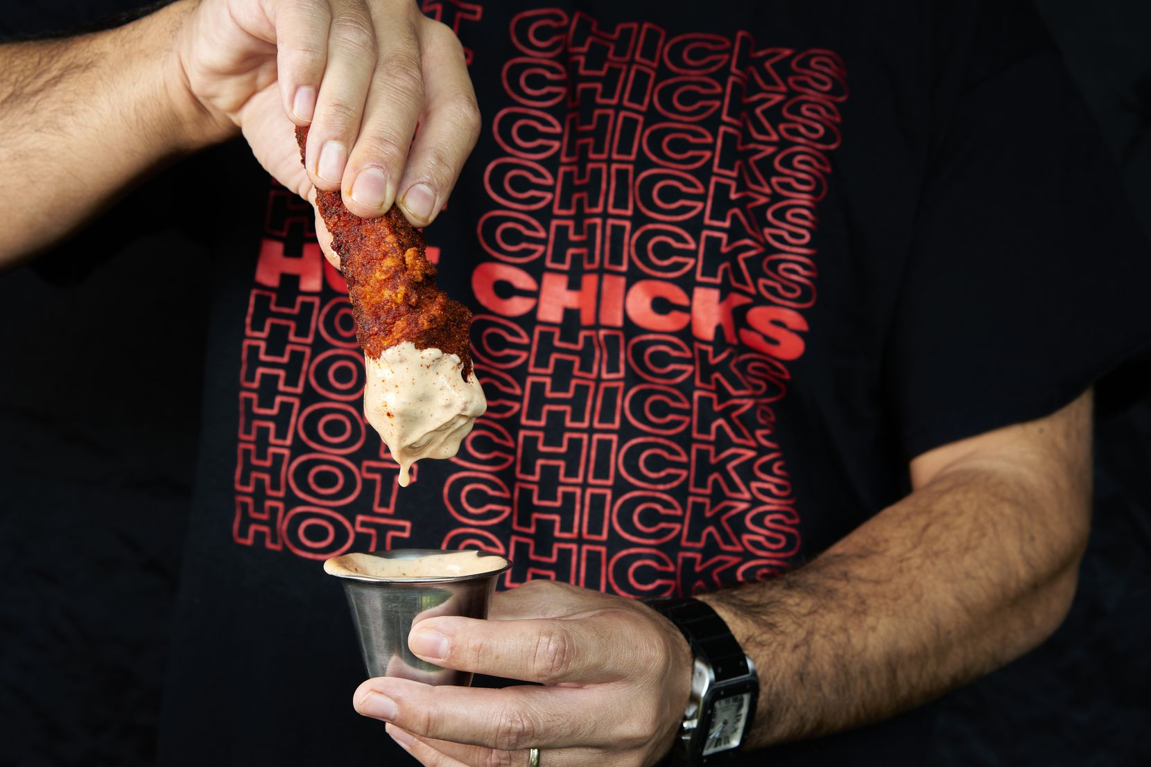 "Hot Chicks Nashville Hot Chicken will offer five heat levels: no heat; mild; medium; hot and hot ""AF."""