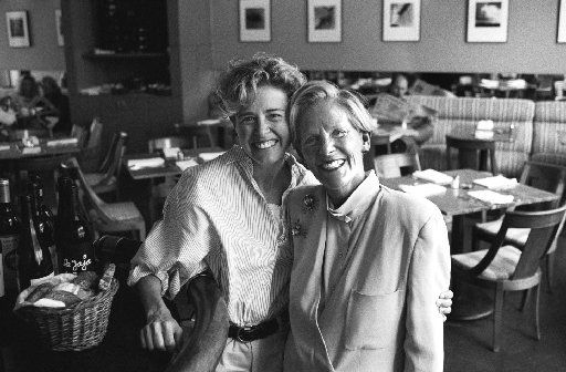 Andree Falls (left) and her mother, Marilyn Stone (nee Romweber) at Parigi in 1994. They conceived of the place, or so the story goes, while in Paris; Parigi is the Italian word for the City of Light.