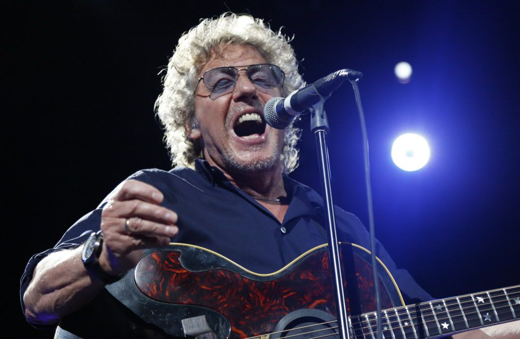 """Roger Daltrey singing """"Who Are You"""" during the show"""