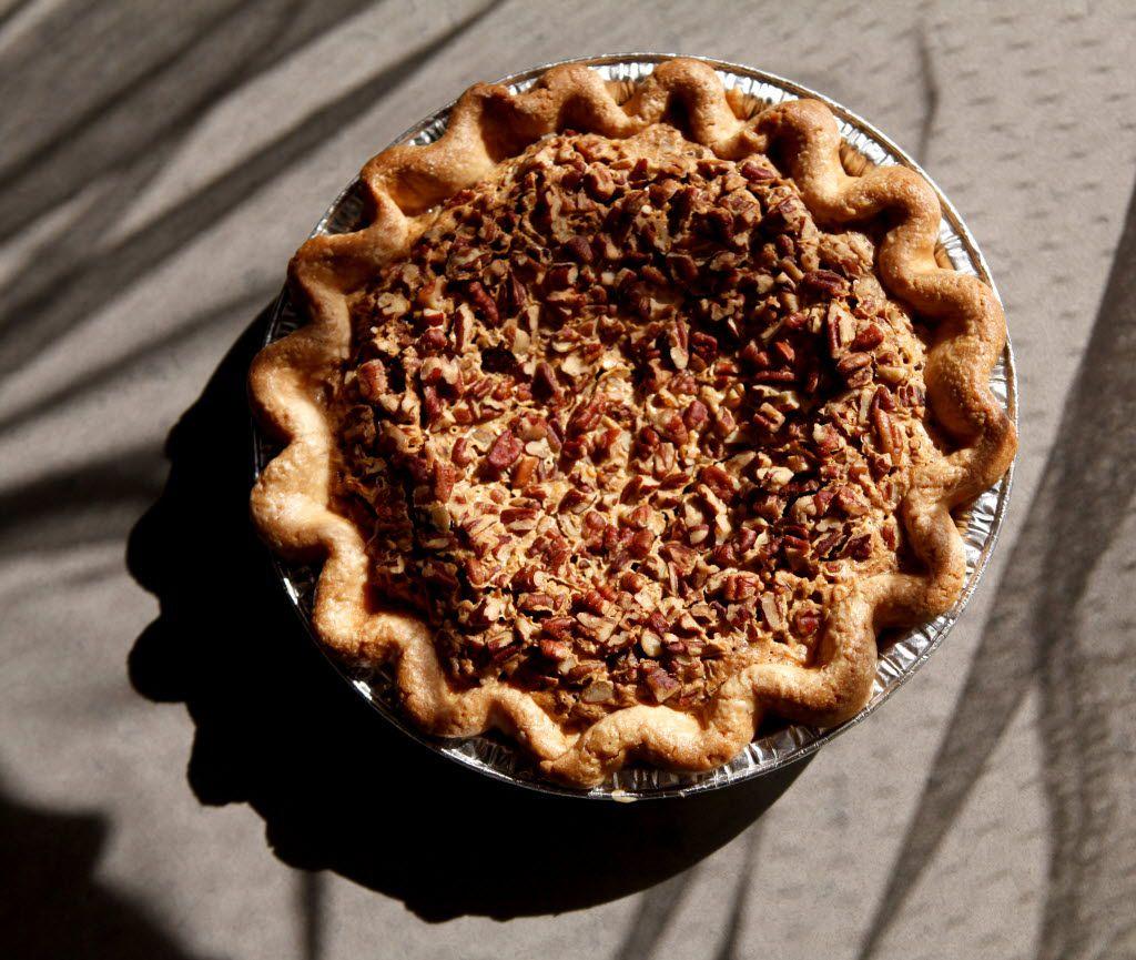 Emporium Pies' bourbon-pecan pie with shortbread crust pictured on November 1, 2013 at Emporium Pies in Dallas.