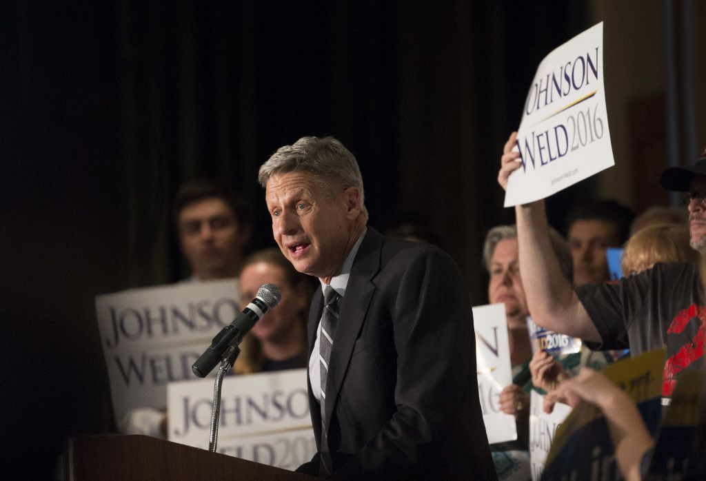 Libertarian presidential candidate Gary Johnson is a former two-term governor of New Mexico.