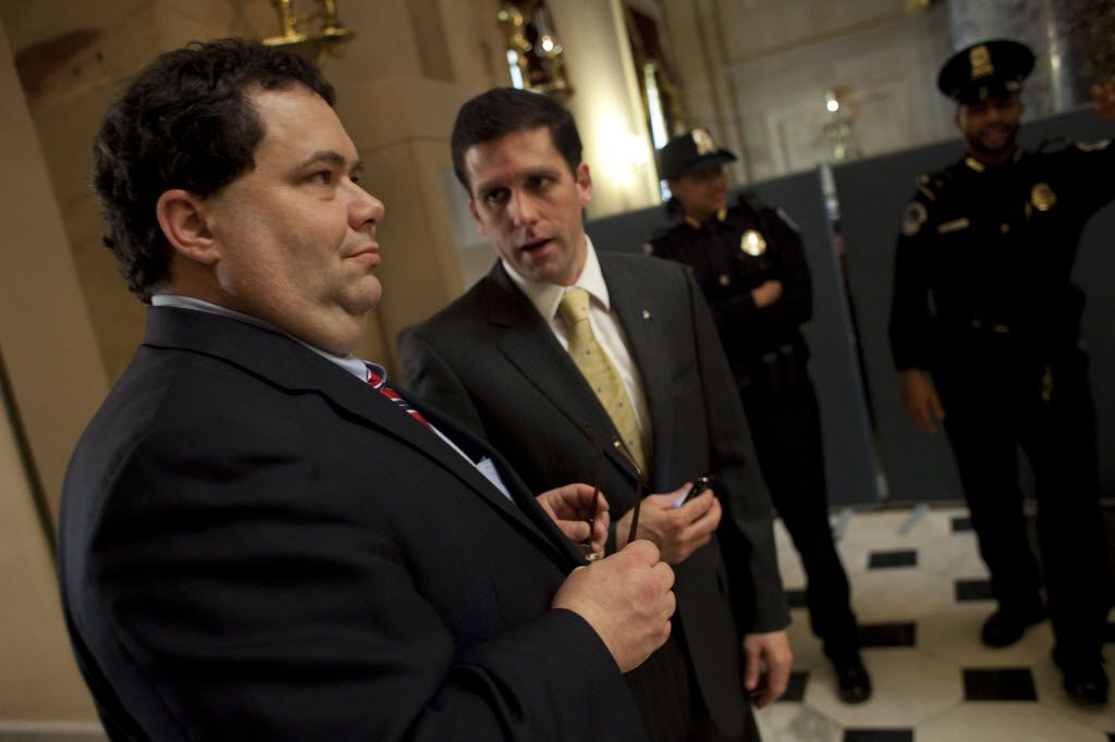 A spokesman for Corpus Christi Rep. Blake Farenthold (left), said the congressman had no qualms about using campaign funds to pay for a fundraising dinner at Trump hotel's BLT Prime.