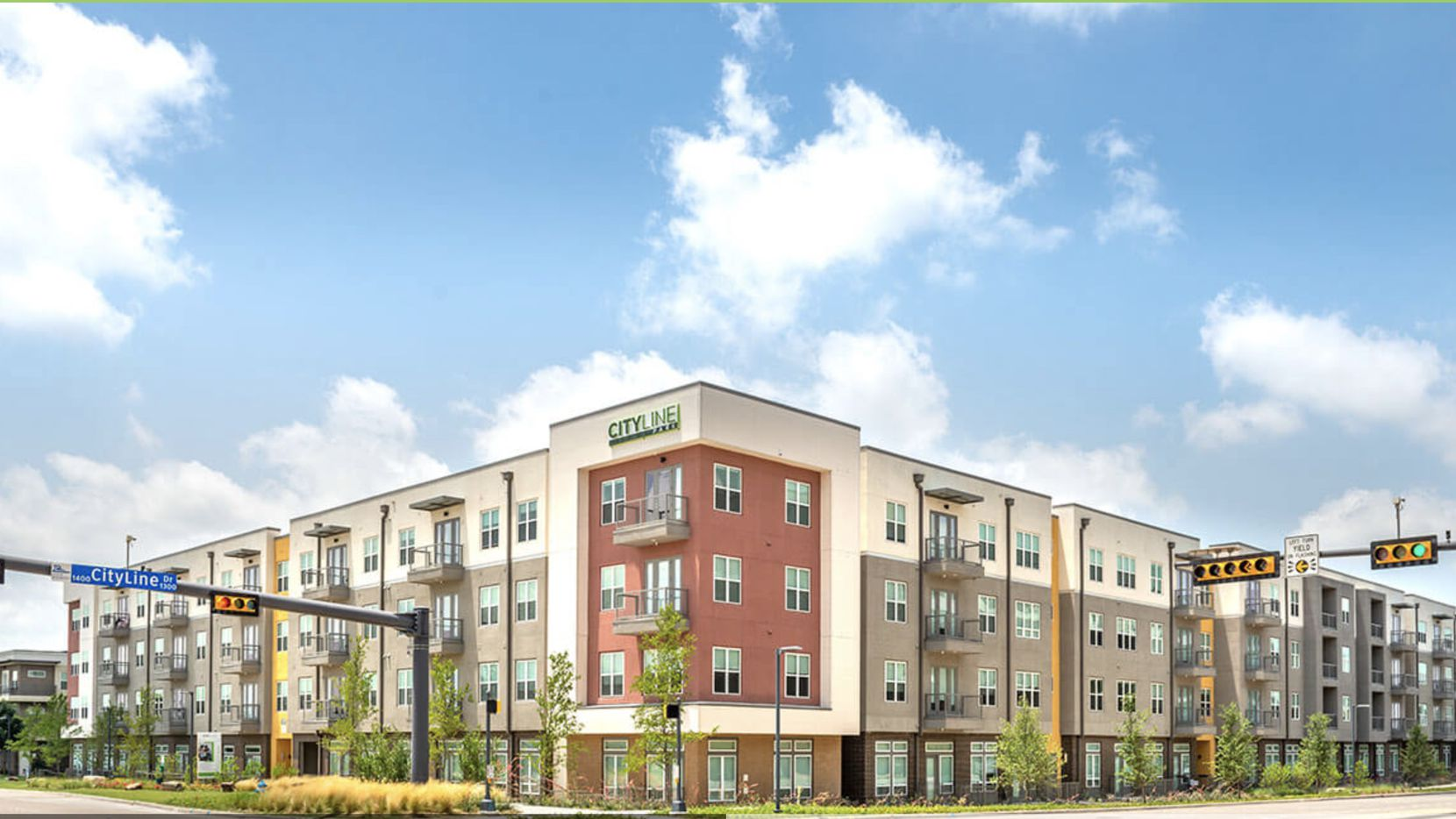 The CityLine Park apartments are on Plano Road south of Bush Turnpike.
