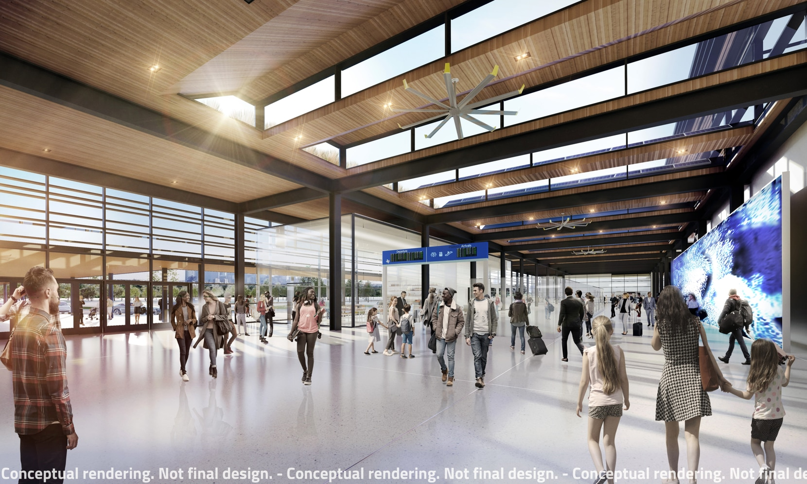 This is a rendering of what the inside of one of the Texas high-speed rail stations could look like.